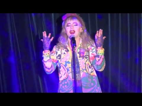 "Venus D-Lite lip sync ""Dress You Up"" by Madonna from live tour 1985 HQ"