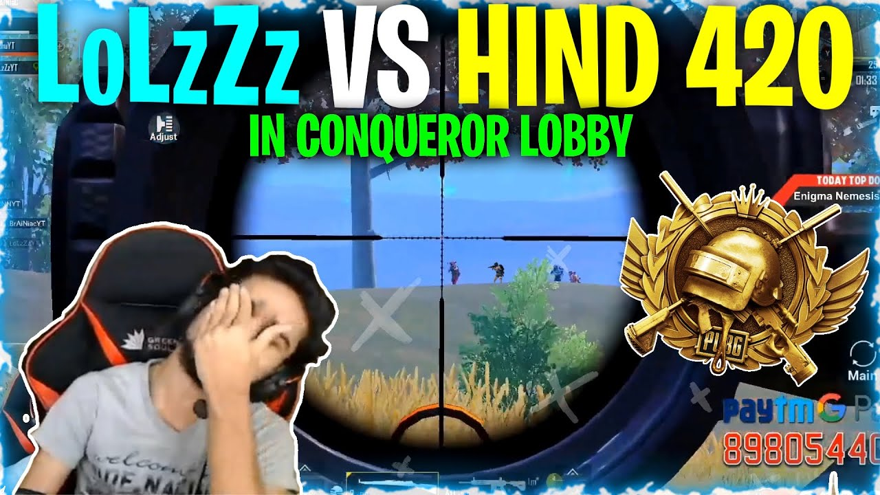 TROLLING HIND''420 IN CONQUEROR LOBBY | LoLzZz vs HIND GAMING | PUBG MOBILE HIGHLIGHTS