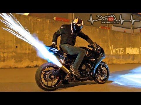 Honda Fireblade | SP Launch control In action | HUGE FLAMES