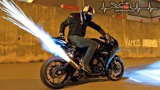 Download Honda Fireblade | SP Launch control In action | HUGE FLAMES Mp3 and Videos