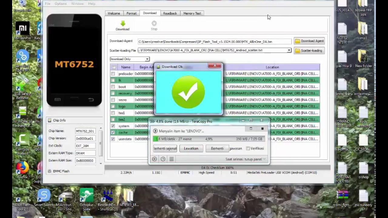 Flash Lenovo A7000 A File Fix LCD Blank