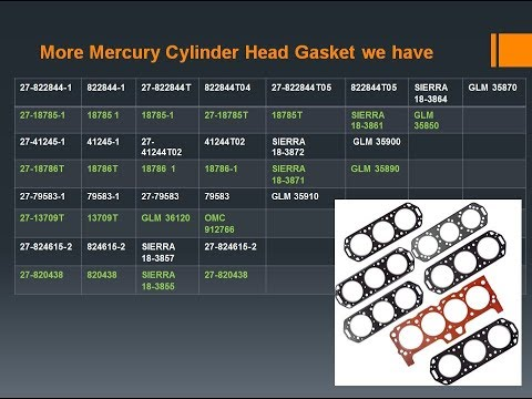 NEW SIERRA 18-3864 MERCURY 27-822844-1 HEAD GASKET