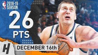 Nikola Jokic Full Highlights Nuggets vs Raptors 2018.12.16 - 26 Points, 9 Reb