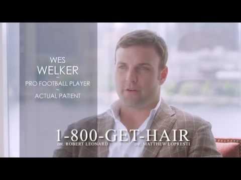 Wes Welker TV commercial for Leonard Hair Transplant Associates