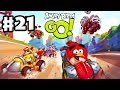 Angry Birds Go! Gameplay Walkthrough Part 21 - Telepod Yellow Car! Stunt (iOS, Android)