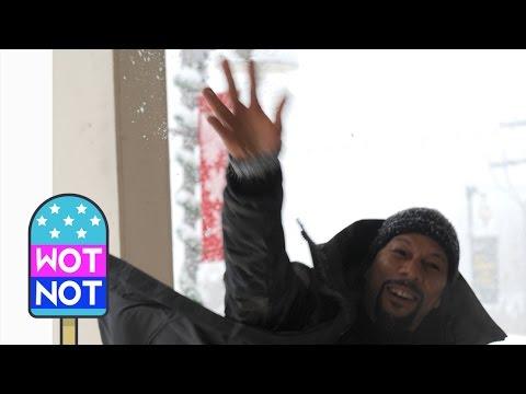 Rapper Common Snowball Fight at The Sundance Film Festival
