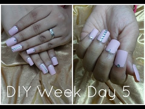 DIY Fake Nails At Home | DIY Week Day 5