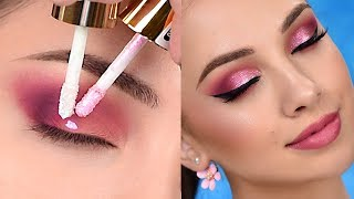 Pink Sparkly Smokey Eye Makeup Tutorial