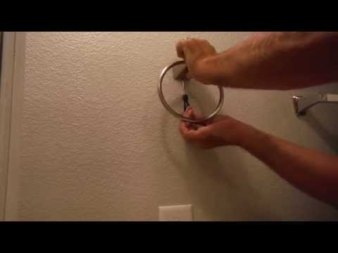 How to Hang / Install a Towel Ring / Towel Rack from Home Depot / Lowes