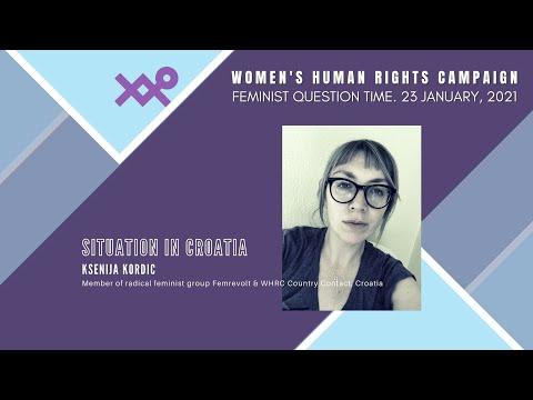 Ksenija Kordic, Member of radical feminist group Femrevolt & WHRC Country Contact, Croatia