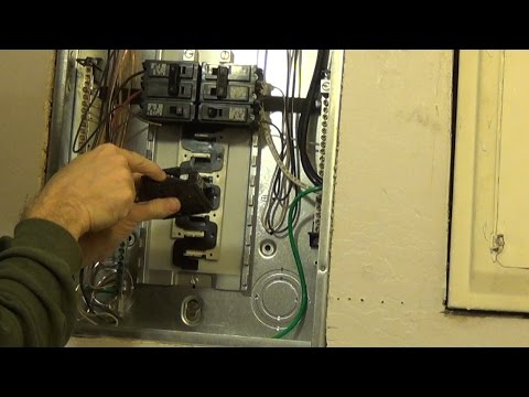 How to Install a Circuit Breaker - YouTube