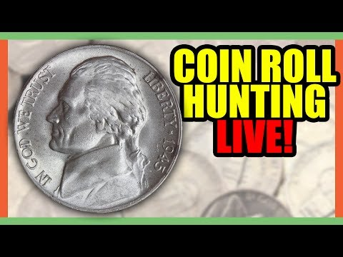 🔴 COIN ROLL HUNTING FOR SILVER NICKELS!! LAST STREAM OF THE WEEK???