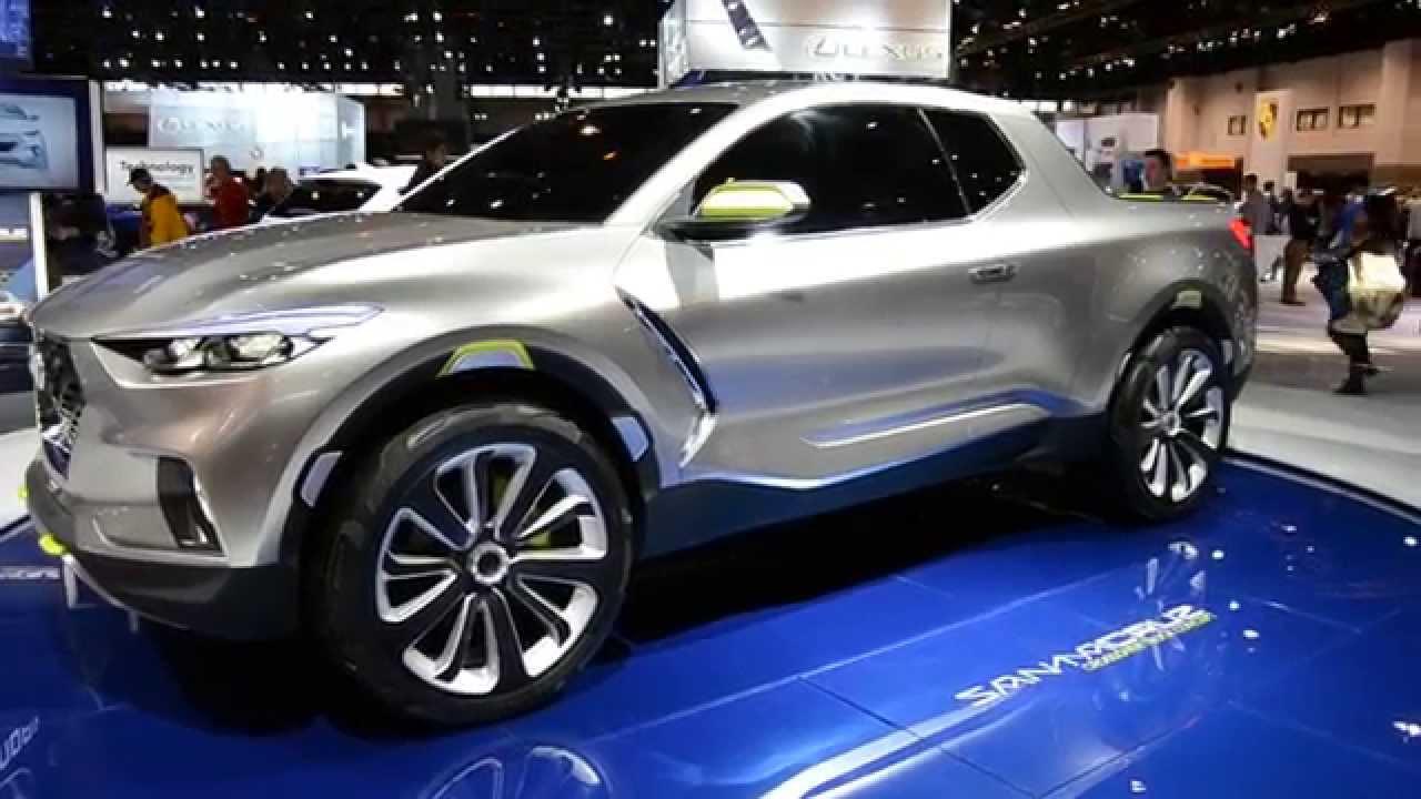 Hyundai Santa Cruz Pick Up >> 2015 Hyundai Santa Cruz Crossover Truck Concept at theChicago Auto Show 2015 - YouTube