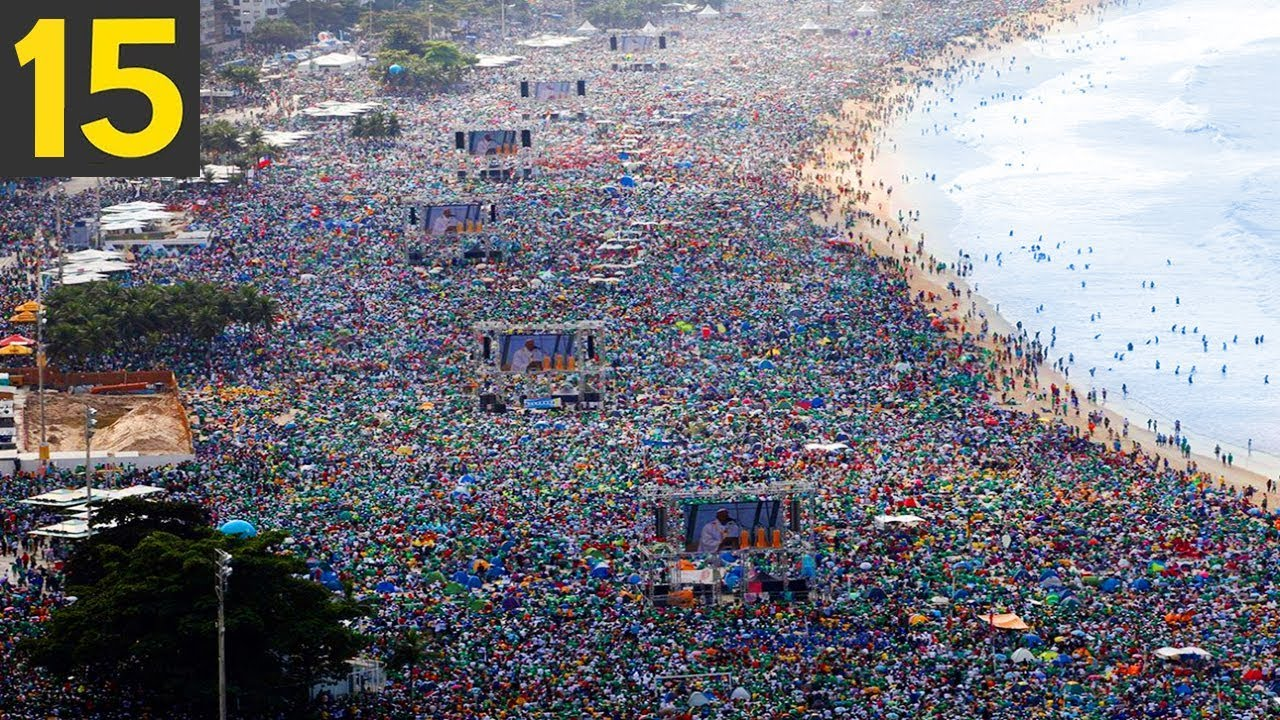 Download 15 LARGEST CROWDS in Human History