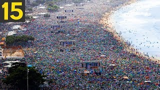 15 LARGEST CROWDS in Human History