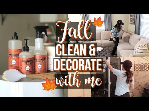 FALL CLEAN & DECORATE WITH ME // Ultimate Cleaning Motivation // 5 Hours Of Cleaning!