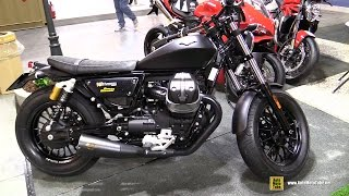 2016 Moto Guzzi V9 Bobber with Zard Exhaust - Walkaround - 2016 EICMA Milan
