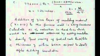 Mod-01 Lec-34 Exercises on Heat Flow in Furnaces and Heat Exchangers