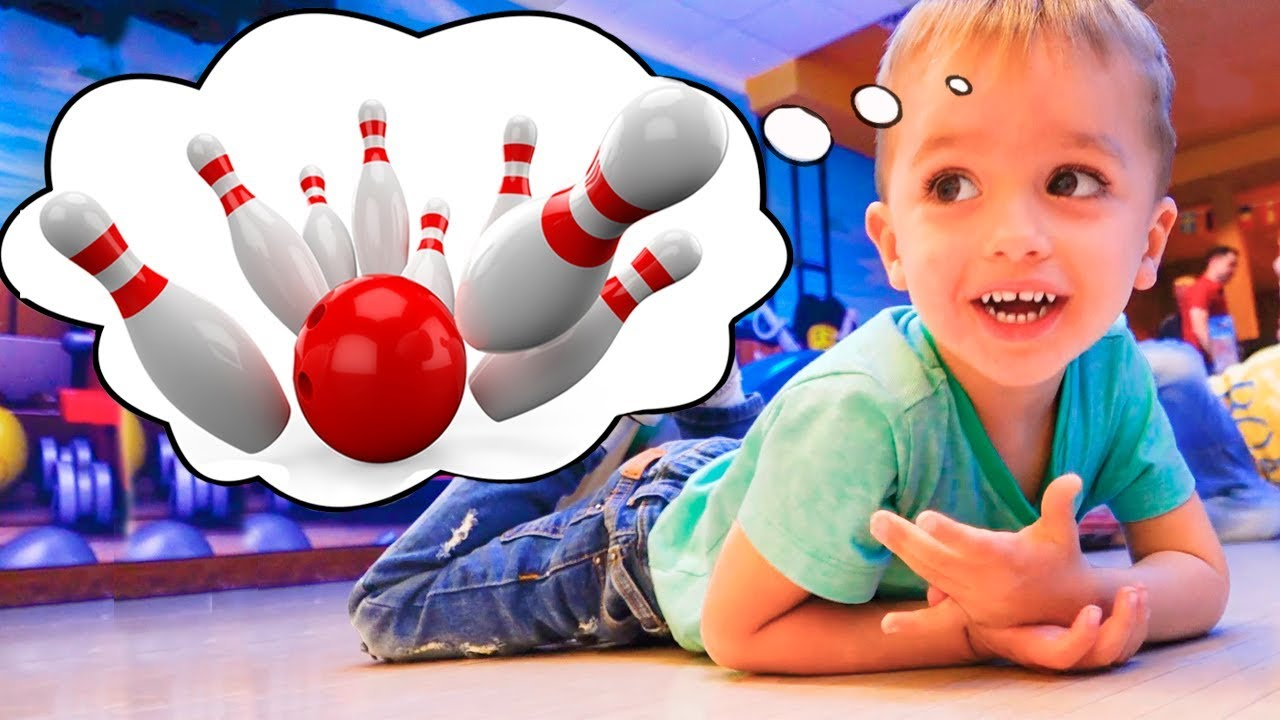 Download Vlad and Nikita Children and Parents playing Bowling