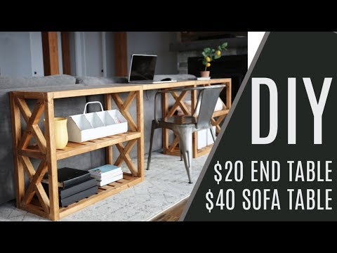DIY: $20 Farmhouse End Table, $60 Sofa Table