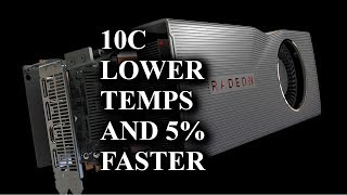 Make your 5700 XT Faster and cooler with 4 plastic washers!!!