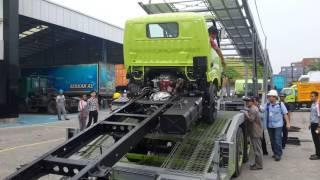 Hino Dutro 130 MDL Loading Car Carrier, Karoseri Muncul Diamond Surabaya, Car Carier Surabaya, KMDI