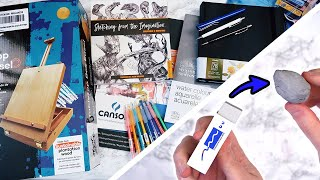 Another Art Supplies Haul & DIY Kneaded Eraser | Studio Vlog