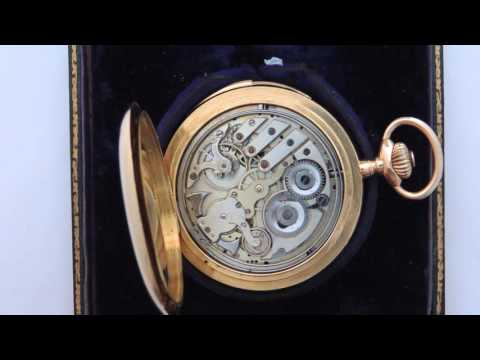 S.Smith & Son London 18k gold minute repeater