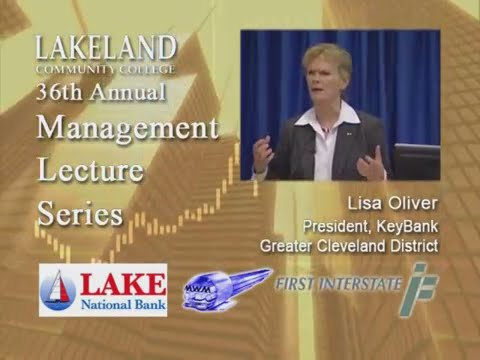 Management Lecture Series - Lisa Oliver, President Greater Cleveland District, KeyBank