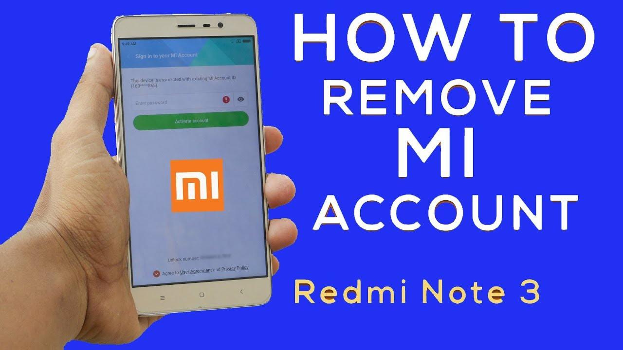 how to redmi note 3 mi account remove without box