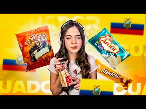 Probando dulces ECUATORIANOS