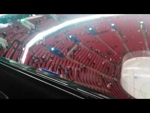 Inside the Bell Centre before a Canadiens game