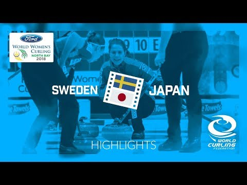 HIGHLIGHTS: Sweden v Japan – Round-robin – Ford World Women's Curling Championship 2018