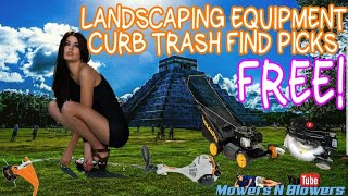 LAWNMOWER PICKING IN LONG ISLAND $10 MOWER PICK AND FOUND A TRASH FIND ON THE WAY FIX N' FLIP PROFIT