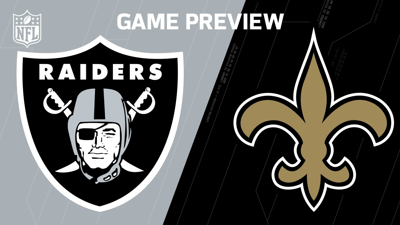 Image result for raiders vs saints game preview