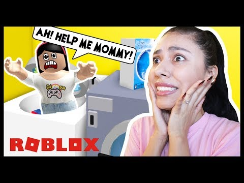 MY MOM GOT ME STUCK IN A WASHER! - Roblox - Escape the Evil Laundry