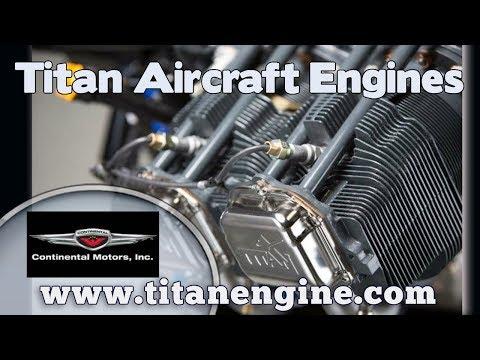 Titan Engine, Titan Aircraft Engine, 180 HP Titan engine for light sport & experimental aircraft.
