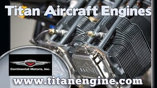 Titan Engine, Titan Aircraft Engine, 180 HP Titan engine for light sport & experimental aircraft.