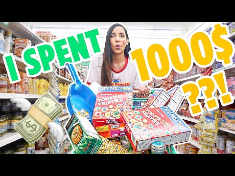 DOLLAR STORE SHOPPING SPREE 💲 NO BUDGET DOLLAR STORE CHALLENGE 💲 | Mar