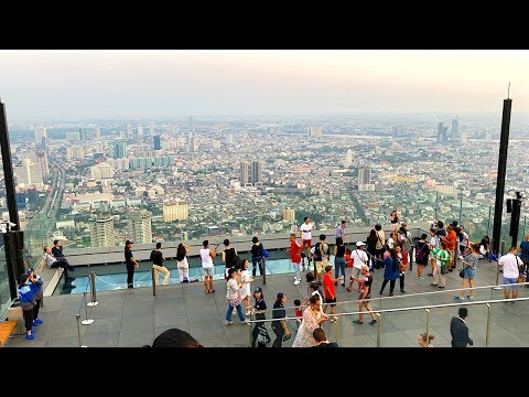 BEST SKYWALK IN BANGKOK - BANGKOK'S NEW GLASS SKYWALK | King Power Mahanakhon Glass Skywalk