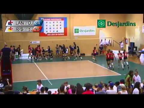 Jeux du Quebec 2014 - Volleyball - 4 août (1e partie)