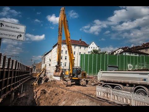 ⚠ schwitzen, buddeln, betonieren - so läuft die heiße Bauphase bei Stuttgart 21 | 04.07.17 | #S21