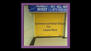 Retail Shops For Lease/Rent