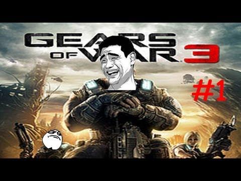 Let's Play Gears of War 3 (2P Coop) - 01 Thirteen Minutes of Fooling Around