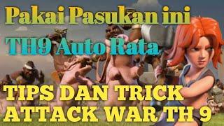 Attack War TH 9 VS TH 9 Auto Rata Pake GOVAHOG