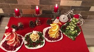 как красиво украсить стол на Новый Год 2016