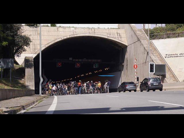 Bicicletes recuperen el Túnel de Vallvidrera (24/04/2021)[Contrainfos]