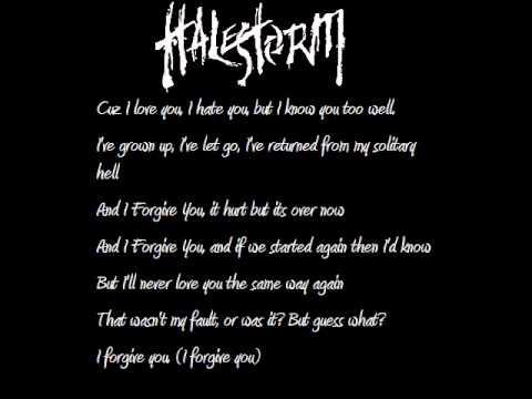 Halestorm - I forgive you w/ lyrics