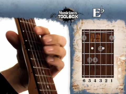 How to play the Eb barre chord on guitar Eb bar chord - YouTube