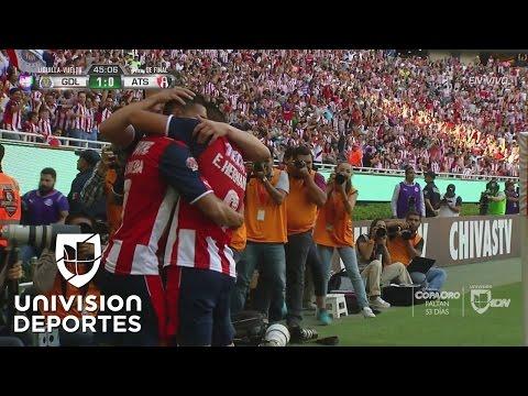 El mejor de Chivas, Orbelín Pineda, hizo el 1-0 a Atlas que empata el global